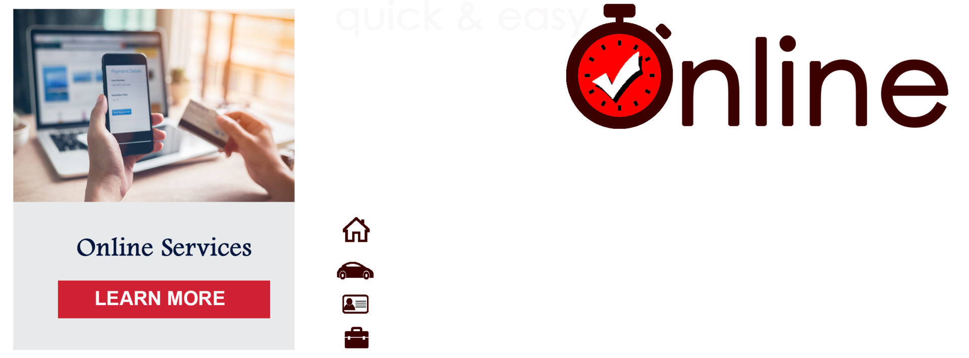 quick easy online services
